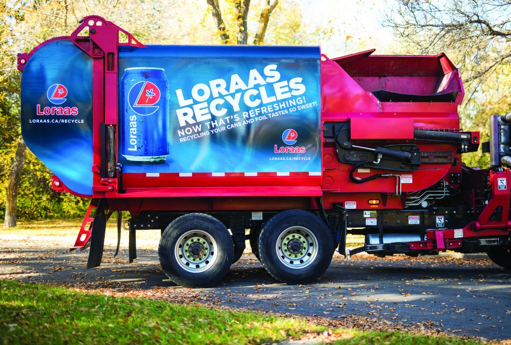 Lorass Recycle truck wraps CANS
