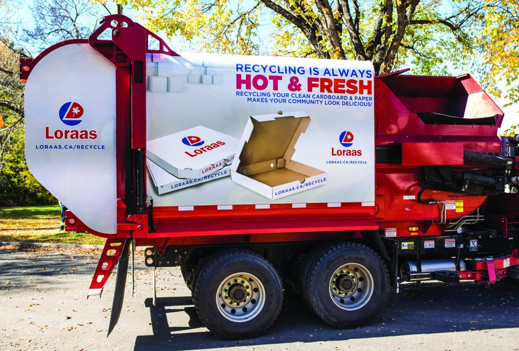 Lorass Recycle truck wraps CARDBOARD