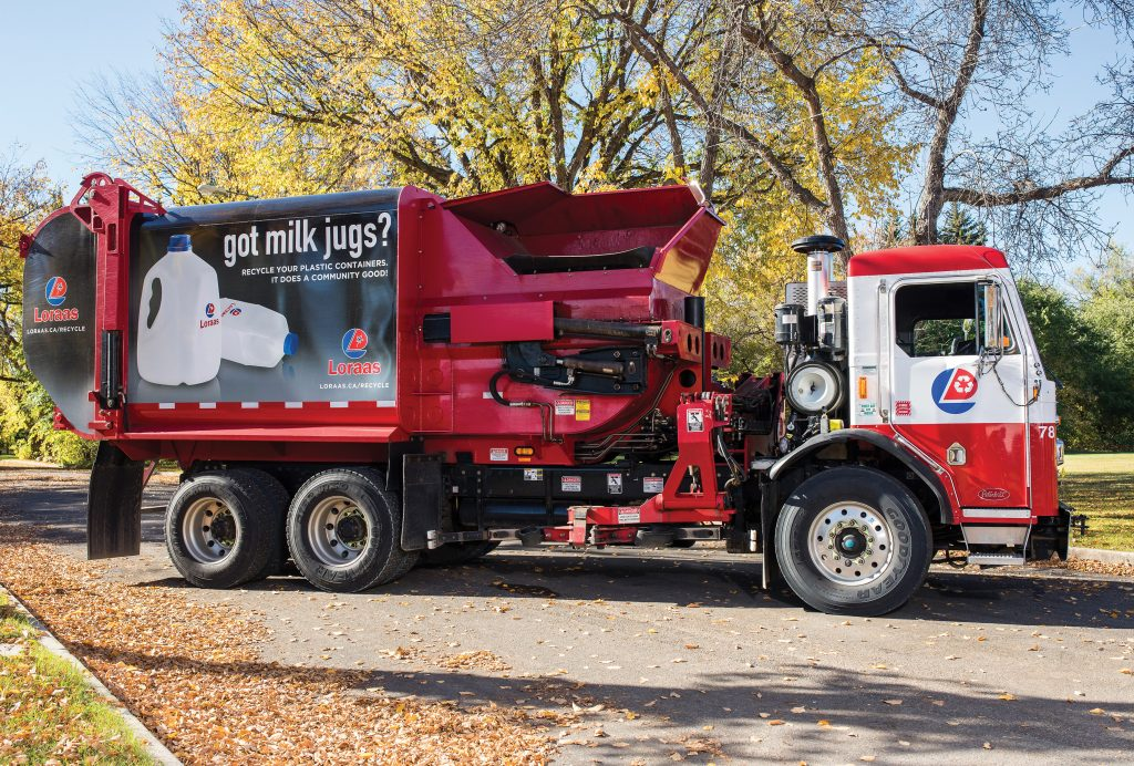 Lorass Recycle truck wraps PLASTICS