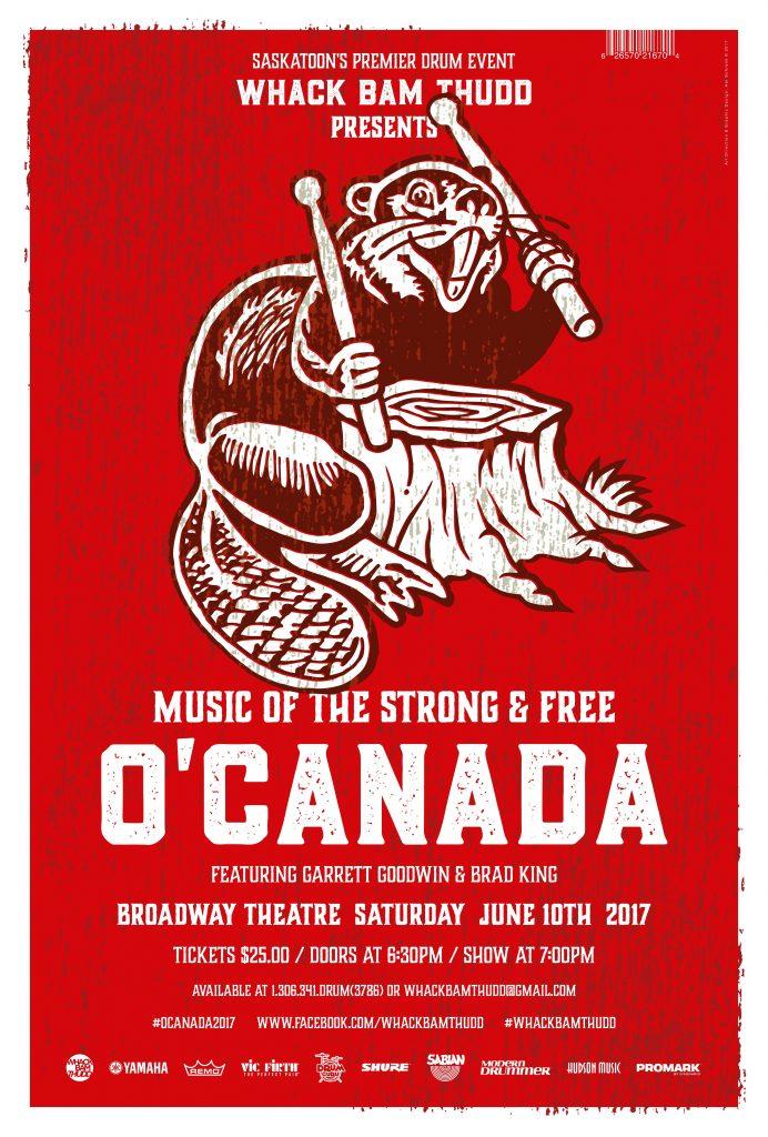 O Canada - WhackBam Thudd - 2017 Poster - Street Poster